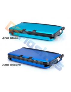 Carcasa Nintendo 3DS XL Protección de Aluminio Azul Claro y Azul Oscuro