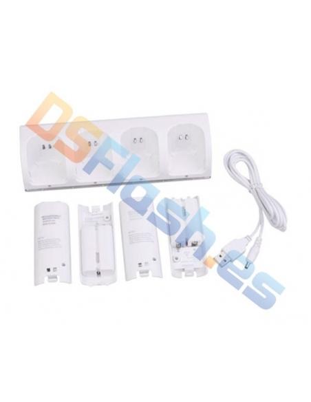 Cargador 4 mandos + 4 baterías WiiMote Wii U