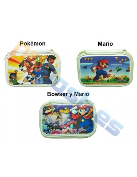 Funda Nintendo DS Lite Transporte Mario y Pokémon
