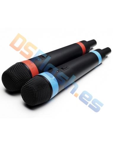 Pack 2 Micrófonos Inalámbricos PS3