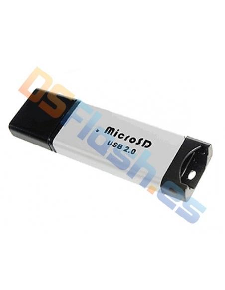 Lector MicroSD de Metal vía USB