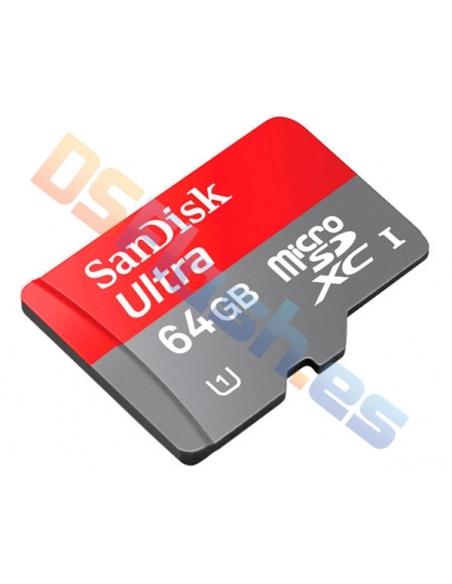 Tarjeta memoria MicroSD 64 GB Clase 10 SanDisk Ultra