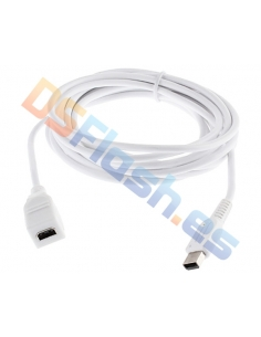 Alargador cable de carga Mando Game Pad Wii U