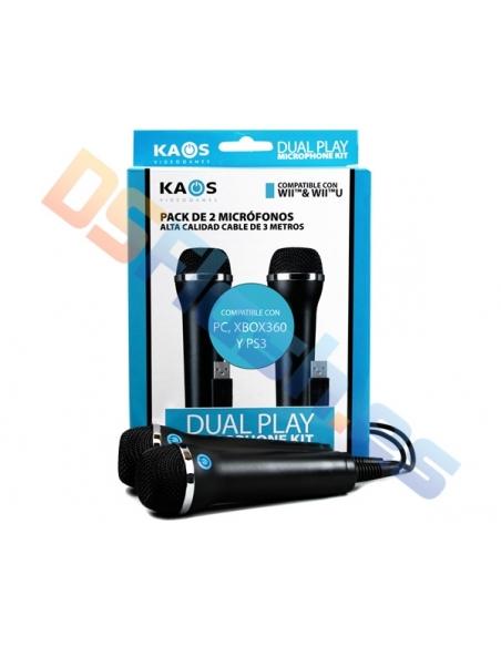 Pack 2 Micrófonos PS3 KAOS