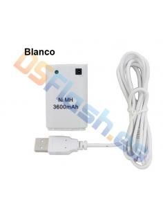 Imagen Batería Xbox 360 Recargable para Mandos blanca