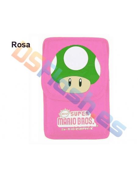 Imagen Funda Nintendo DS Lite Super Mario rosa