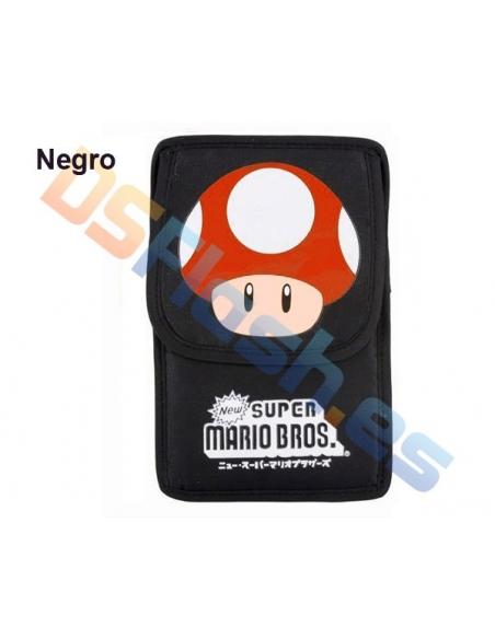 Imagen Funda Nintendo DS Lite Super Mario negra