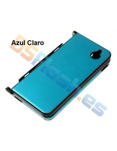 Carcasa Nintendo DSi XL Protección de Aluminio en azul claro