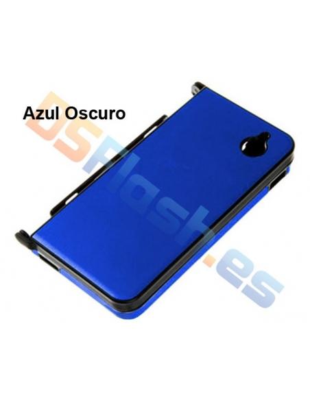 Carcasa Nintendo DSi XL Protección de Aluminio en azul