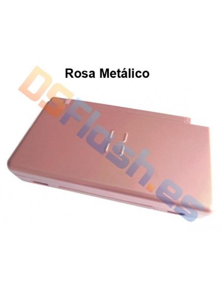 Imagen Carcasa Nintendo DS Lite de Repuesto rosa metalico