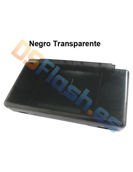 Imagen Carcasa Nintendo DS Lite de Repuesto negra transparente