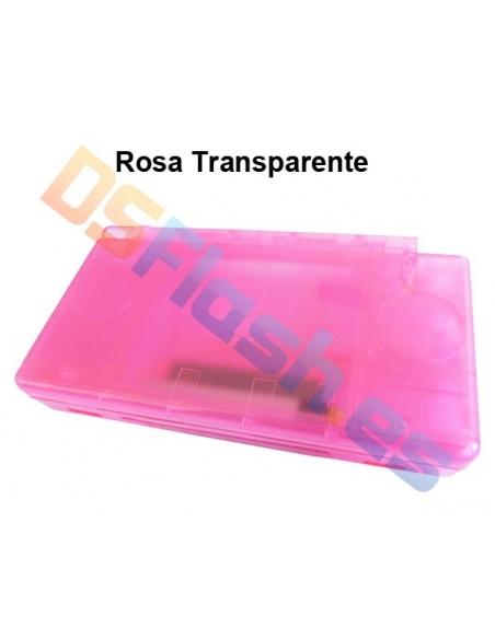 Imagen Carcasa Nintendo DS Lite de Repuesto rosa transparente
