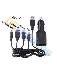 Imagen Cargador Coche y USB Nintendo 3DS negro