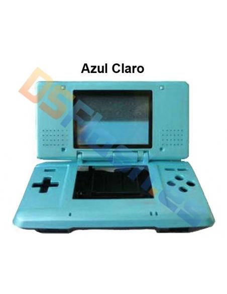 Imagen carcasa Nintendo DS de repuesto azul claro