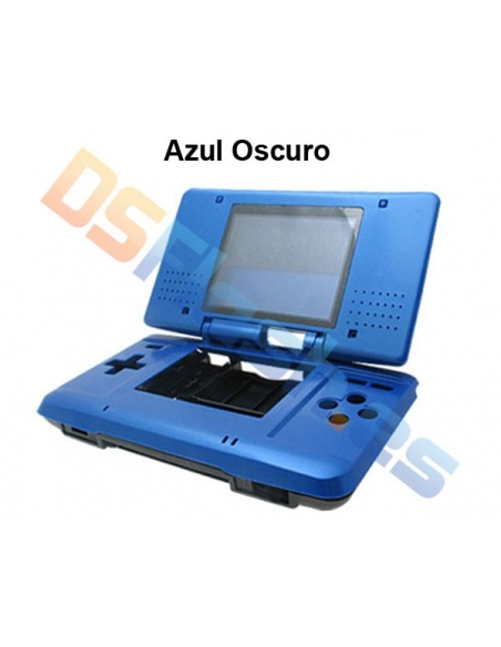 Imagen carcasa Nintendo DS de repuesto azul oscuro