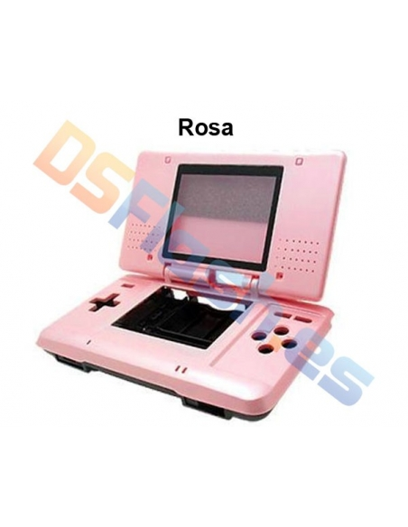 Imagen carcasa Nintendo DS de repuesto rosa