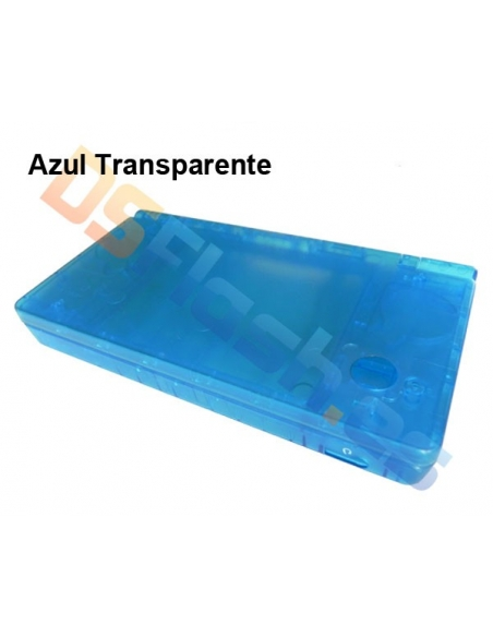 Imagen Carcasa Nintendo DSi Repuesto Azul Transparente