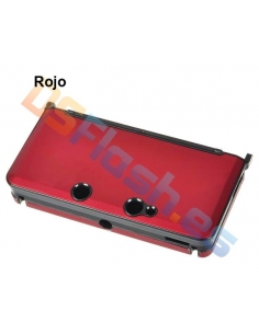 Carcasa Protección de Aluminio Nintendo 3DS - Roja