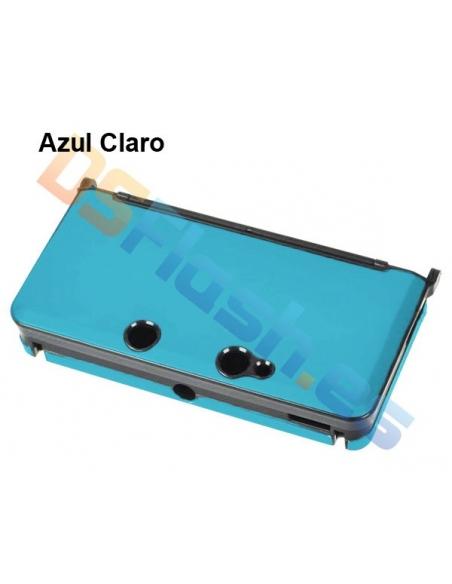 Carcasa Protección de Aluminio Nintendo 3DS - Azul claro