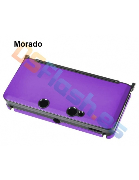 Carcasa Protección de Aluminio Nintendo 3DS - Morada