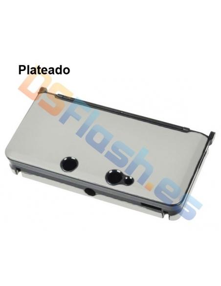 Carcasa Protección de Aluminio Nintendo 3DS - Plateada