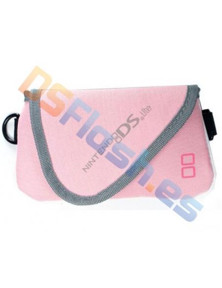Imagen Funda Nintendo DS Lite Transporte Nylon rosa