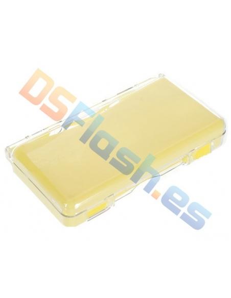 Carcasa Nintendo DS Lite Transparente con Interior Silicona