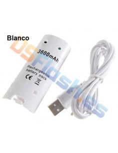 Batería WiiMote Recargable 3600 mAh blanca